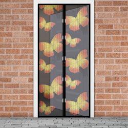 Szúnyogháló függöny ajtóra mágneses 100 x 210 cm pillangós