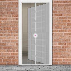 Szúnyogháló függöny ajtóra mágneses 100 x 210 cm - fehér