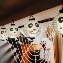 Halloween-i LED-es lampion 1 LED Szellem 2 x AAA