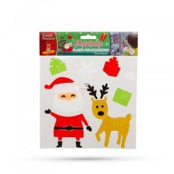 Zselés ablakdekor - karácsonyi 12 db / csomag