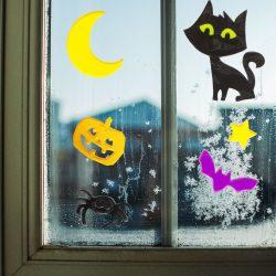 Zselés ablakdekor - halloween 12 db / csomag