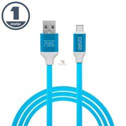 Adatkábel - USB Type-C szilikon bevonat 4 szín - 1 m