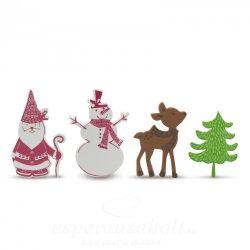 Karácsonyi habmatrica hóemberes 60 db / csomag