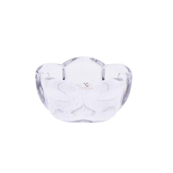 Mécsestartó üveg 7cm virágos