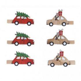 Csipeszes karácsonyi figura
